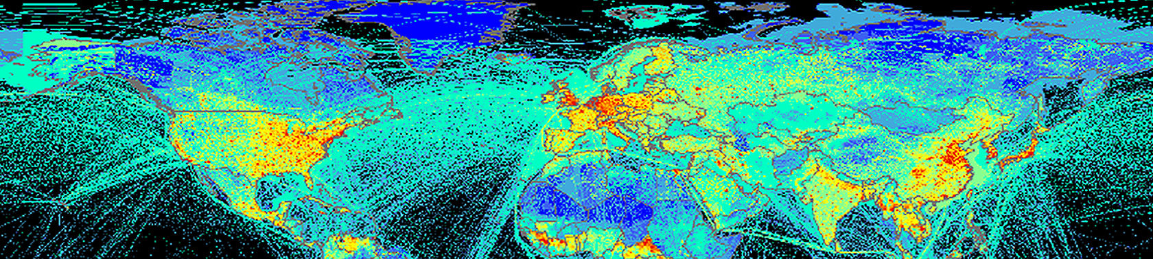 Fossil fuel emission maps obtained from global/national inventories