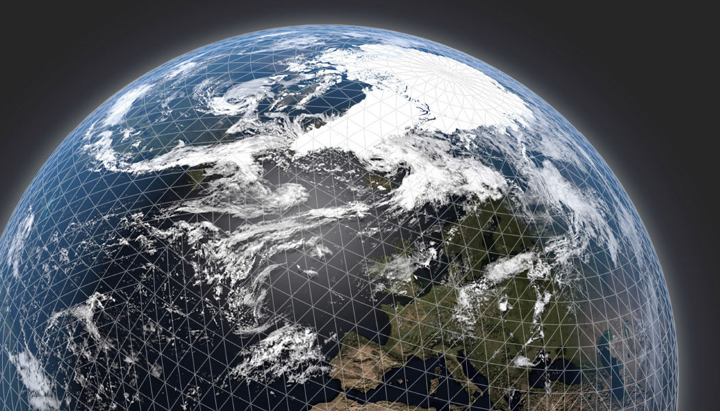 Globe with NWP mesh
