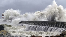 Picture of storm-tossed water