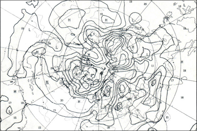 Extract from first ECMWF operational forecast