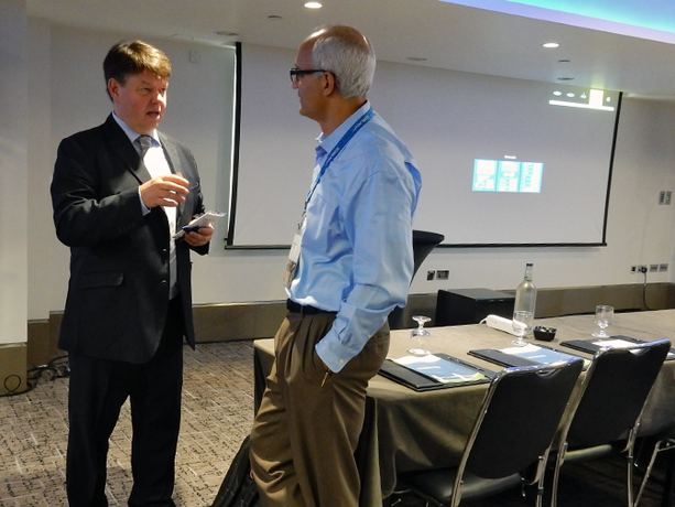 WMO Secretary-General Petteri Taalas (left) and the president and CEO of Cray, Peter Ungaro, at CUG 2016