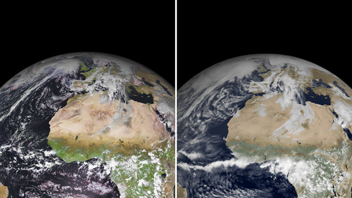 Satellite and simulated satellite images