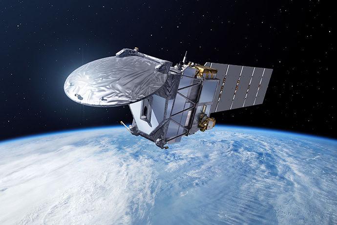Artist's impression of EarthCARE satellite in orbit