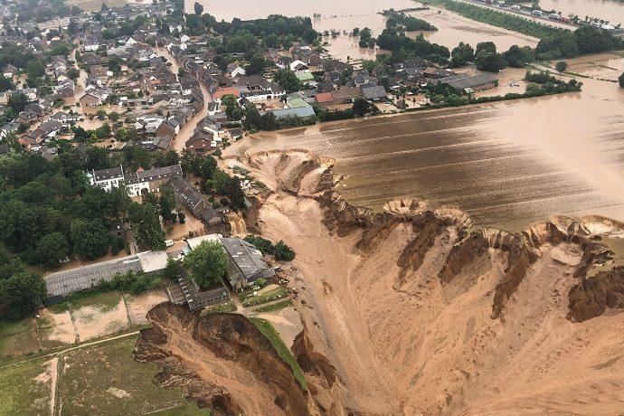 Image of flooding in Erfstadt-Blessem in July 2021
