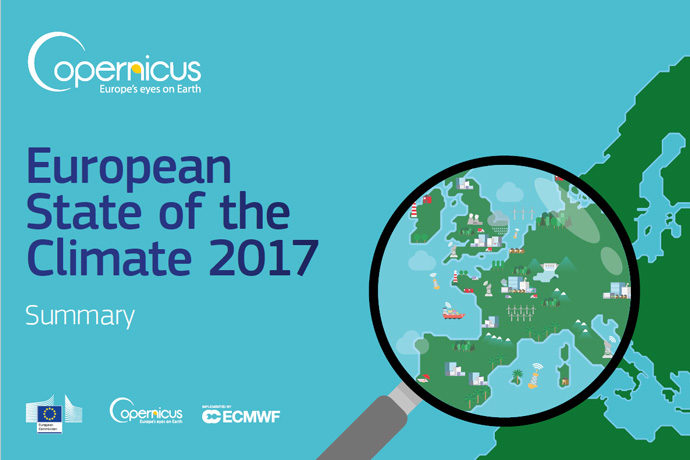 European State of the Climate Summary 2017 cover