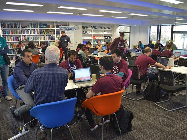 Open data hackathon at ECMWF 4 and 5 March 2017 (Photo: Maurizio Latini)