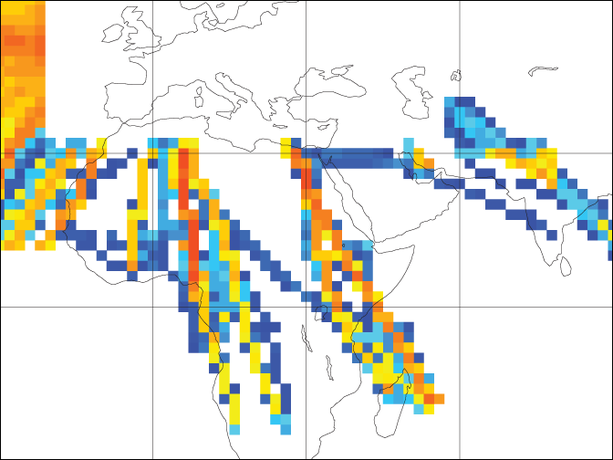 Locations of new aircraft wind measurements recently assimilated at ECMWF