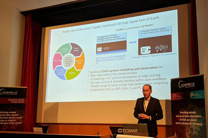 Martin Palkovič at the Copernicus AI workshop in Nov 2019