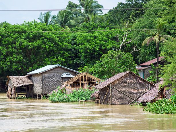 Monsoon flooding in Myanmar in 2015