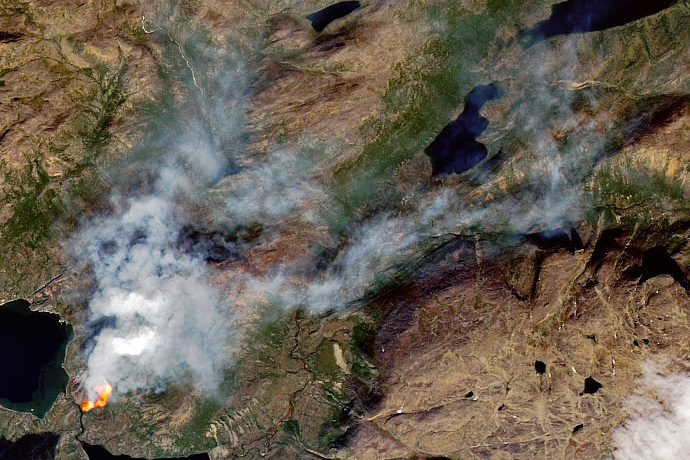 Wildfire in Greenland July 2019