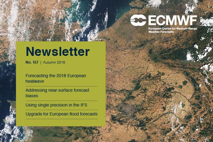 ECMWF Newsletter 157 cover