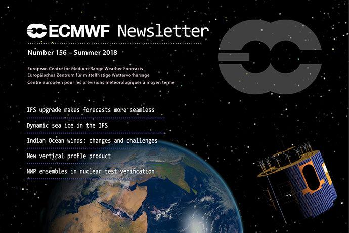 ECMWF Newsletter 156 cover