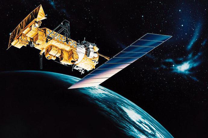 Artist's impresssion of NOAA-17 satellite in orbit