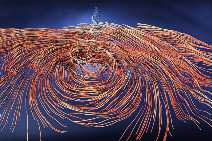 Visualisation of Hurricane Irma