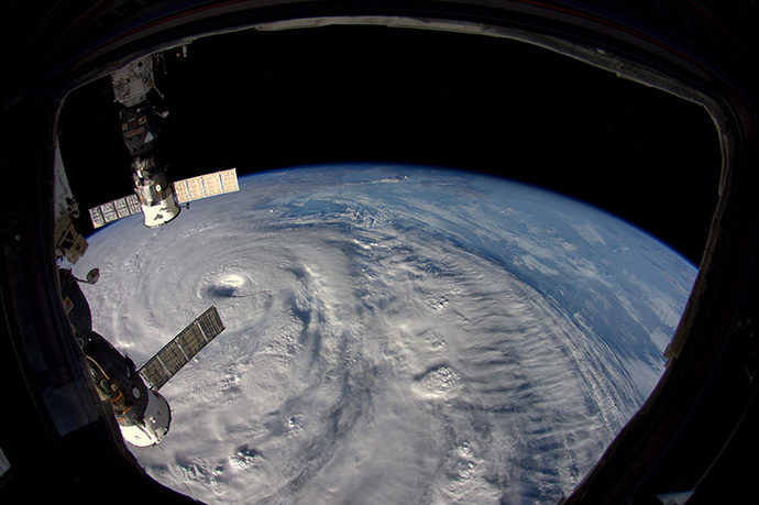 Typhoon Neoguri (2014) from International Space Station