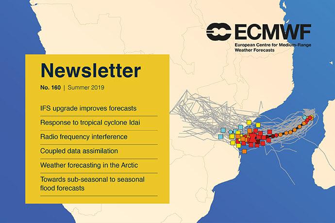 ECMWF Newsletter 160 cover