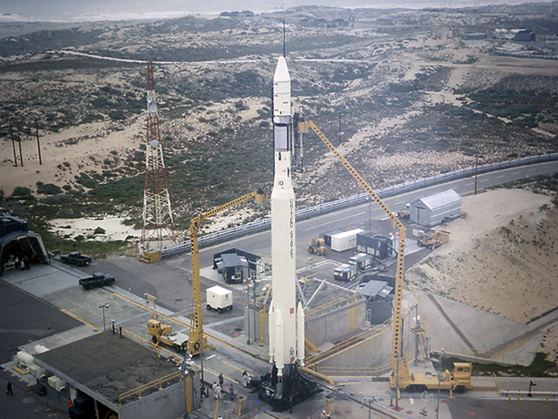 The Thor-Agena-10 launched the Nimbus III, Earth observation and meteorology satellite, on April 13, 1969.