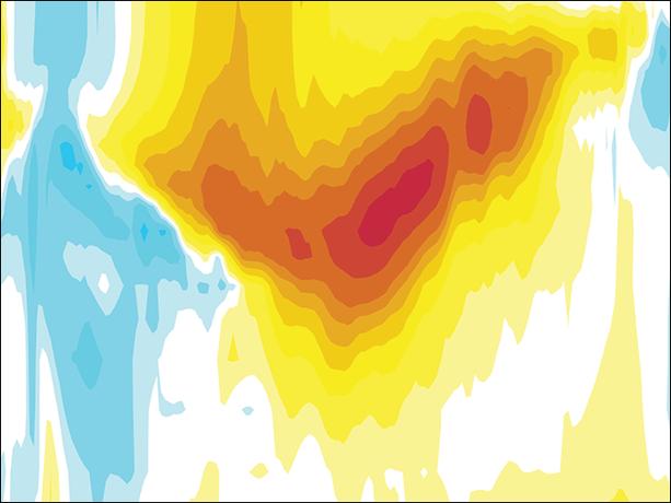 Pacific Ocean potential temperature chart