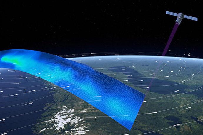 Aeolus satellite wind profile path