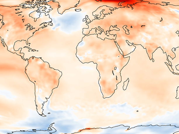 Twelve-month temperature anomalies up to May 2016