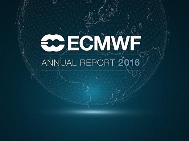 ECMWF Annual Report 2016 cover image
