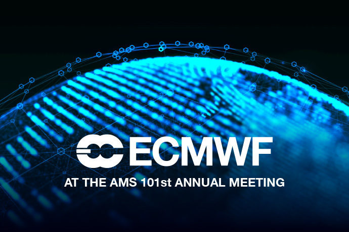 ECMWF at AMS 101st Meeting graphic