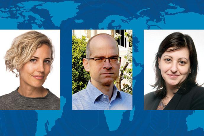 ECMWF Fellows Louise Nuijens, Marc Bocquet, Maria-Helena Ramos