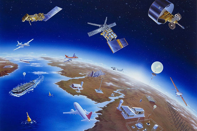 Components of the global weather observing system