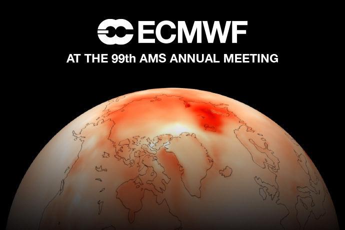 ECMWF at AMS 2019 graphic
