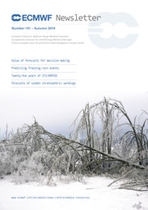 ECMWF Newsletter 141 Cover