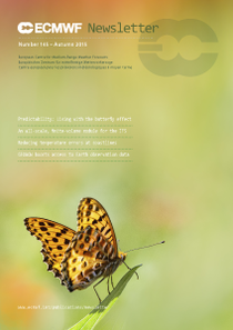 ECMWF Newsletter 145 Cover