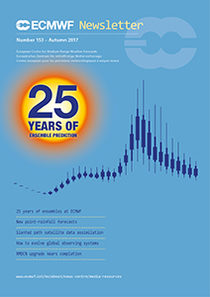 Cover of ECMWF Newsletter No. 153