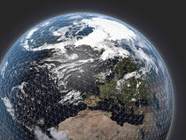 Global numerical weather prediction grid