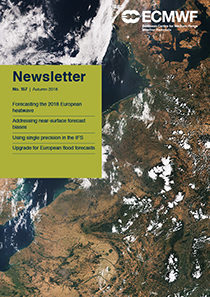 ECMWF Newsletter 157 cover