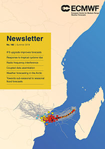 ECMWF Newsletter 160 cover