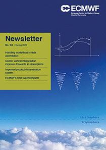 ECMWF Newsletter 163 cover