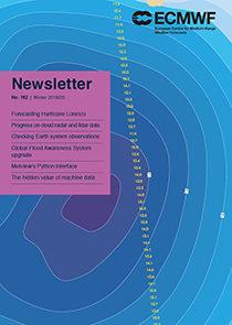 ECMWF Newsletter 162 cover