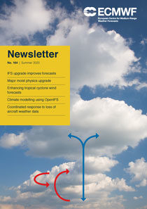 ECMWF Newsletter 164 cover
