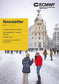 ECMWF Newsletter 167 cover