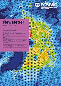 ECMWF Newsletter 168 Cover